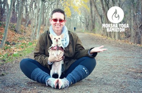 Yogi with dog.